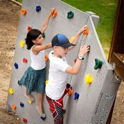 10 tlg Klettersteine Klettergriffe Kletterwand Spielturm Kinder Gartenpirat NEU~