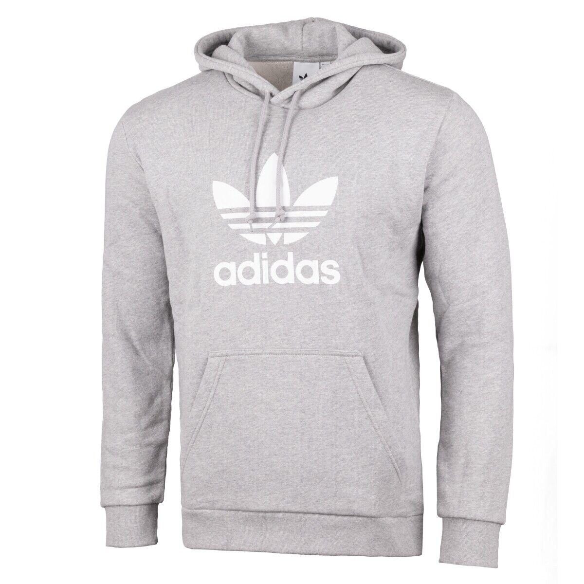 Adidas Trefoil Uomo Felpa con Cappuccio Originals Pullover Grigio Dt7963 Dt7963 Dt7963 33602f