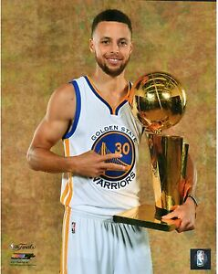 Stephen Steph Curry 2017 NBA Champions Golden State Warriors Finals Trophy 8x10