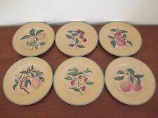 Philippe Deshoulieres, Fruit Motif Salad / Dessert Plates, Set of Six, Limoges