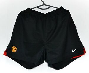 Manchester United 2004/2005/2006 HOME FOOTBALL SHORT JERSEY Nike Taglia L adulto