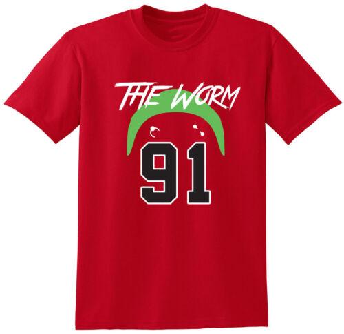 "Dennis RODMAN Chicago BULLS /""The Worm/"" T-Shirt"