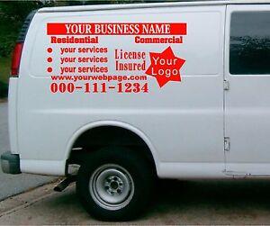 Van Car Vehicle Custom Vinyl Decal Lettering Stickers Business - Custom vinyl decal stickers for business