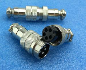 GX16 4 pin Circular Connectors Male /& Female Aviation Socket /& Plug Inline