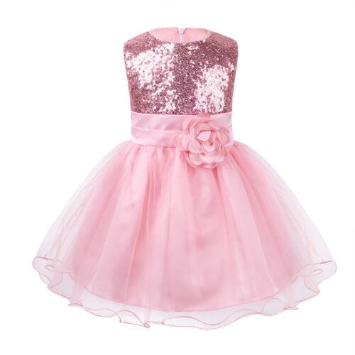 Flower Girl Kid Christening Wedding Party Bridesmaid Princess Formal Tulle Dress