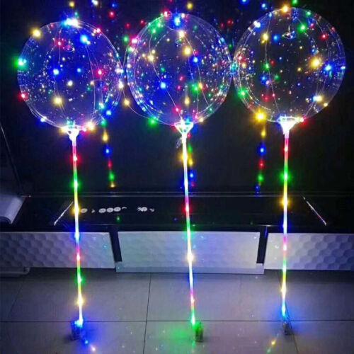 "18/"" LED Light Up Balloons Transparent Wedding Birthday Xmas Party Lights Decor"
