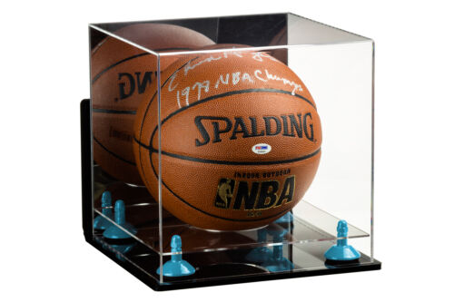 BlueRisers /& Clear Base Full Size Basketball Display Case with WallMount A001