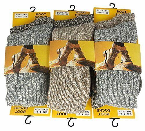 stile ideale per l/'escursionismo e sci , 854//4 12 Paia Mix Di Lana Donna Rambler calze