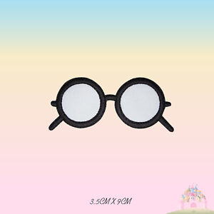Harry Potter Glasses Movie Comic Embroidered Iron On Patch Sew On Badge
