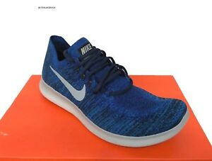 289894caafef NIKE men s FREE RN FLYKNIT Running SHOES 880843-405 Royal Blue