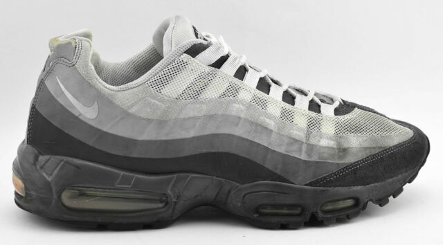 online retailer 81632 4d1ec MENS NIKE AIR MAX 95 NO SEW RUNNING SHOES SIZE 11 BLACK GRAY WHITE 511306  011