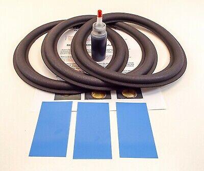10W1,10W6 10W3 10w8 10W3v2 3 JL Audio Foam Surround Repair Kit For 10W0 10W4