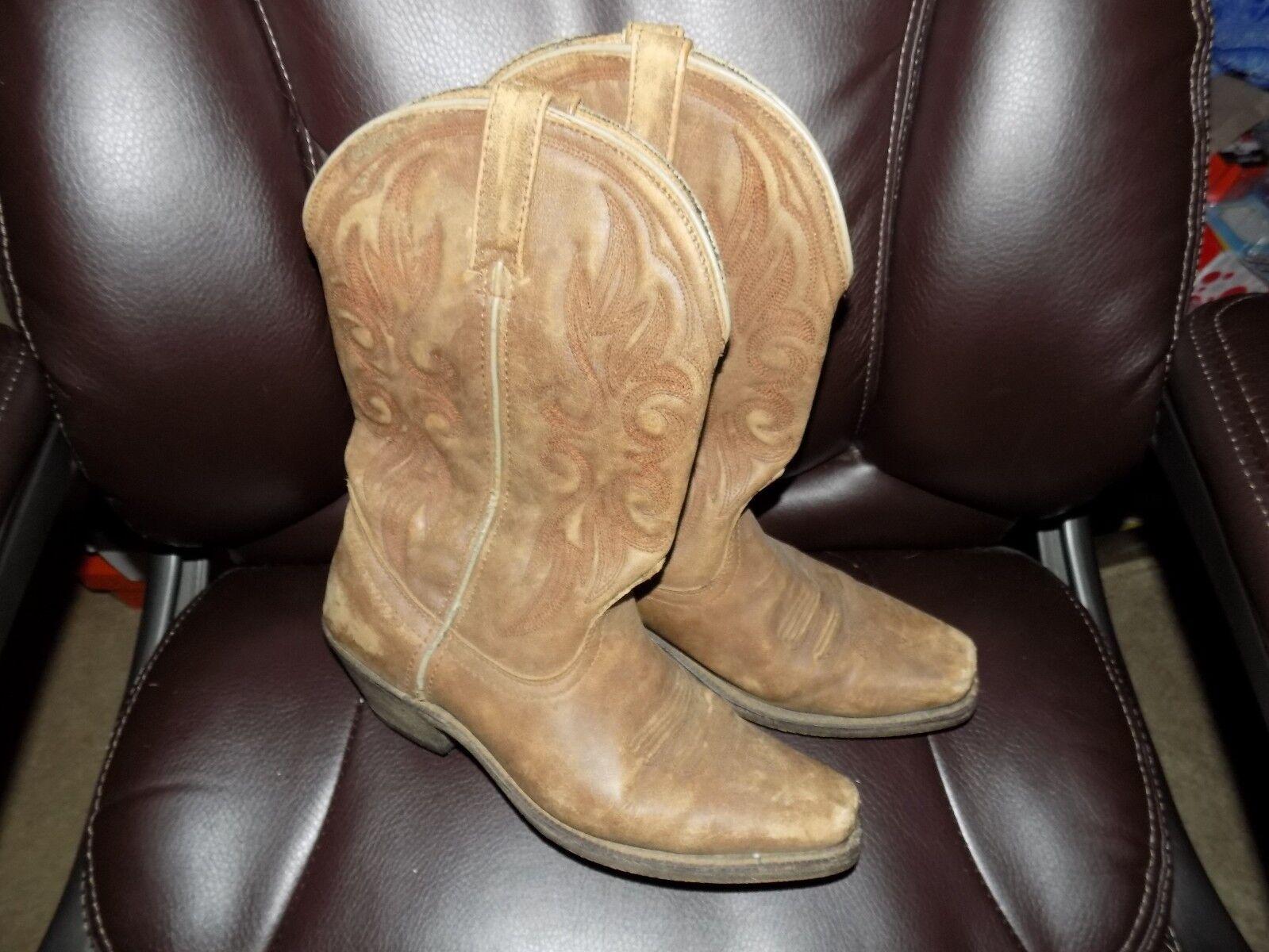 Laredo Women Leather Maricopa Tantan (51041) Size 9M EUC FREE USA SHIPPING