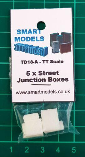 TD18-A 5 x Street Junction box 1-5 3d printed TT scale model railway scenics