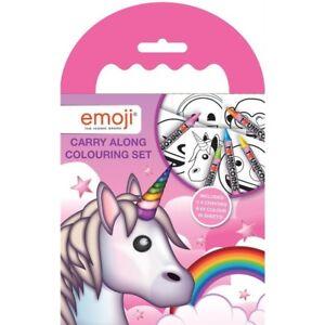 Rosa-Emoji-Unicornio-para-Llevar-Colorear-Pad-Fiesta-Favor-Actividad-de-Ninos