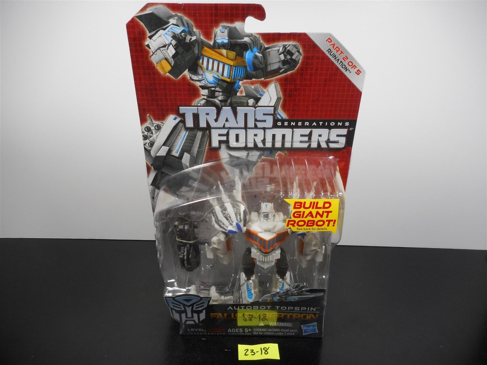 NEW & SEALED  TRANSFORMERS GENERATIONS FOC AUTOBOT TOPSPIN RUINATION 2 OF 5 2318