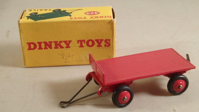 Dinky Toys Nº 429 en caja de remolque rosso-Vintage Dinky Nº 429 Remolque rosso