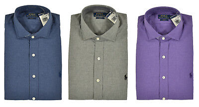 Polo Ralph Lauren Slim Fit Cotton Knit Estate Dress Shirt New $125 | eBay