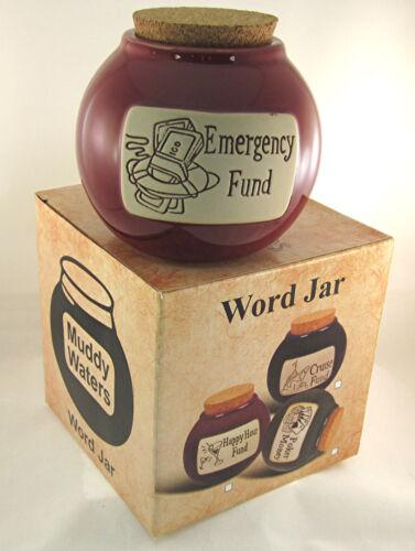 "Accident 911 Prepper Rainy Day Safety First Money Bank Jar /""Emergency Fund/"""