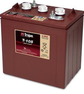 Trojan-T-105-6V-6-Volt-Golf-Cart-Battery-battery-RV-marine-ezgo-club-car-solar