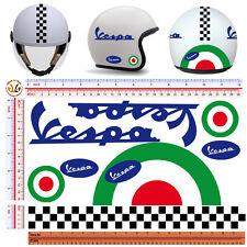 adesivi casco vespa tricolore sticker helmet vespa italian flag print pvc 8 pz.