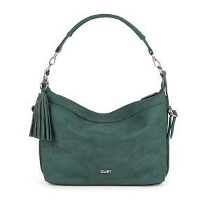 ZWEI-Umhaengetasche-petrol-Damentasche-34x4x28-cm-Schultertasche-Handtasche