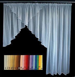 Das Bild Wird Geladen  Balkon Balkontuer Gardine 650 245 Weiss Farben Fenster