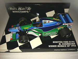 Minichamps-F1-1-43-BENETTON-FORD-B194-Michael-Schumacher-1st-MONACO-GP-1994