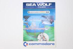 Vintage-Commodore-64-Sea-Wolf-Computer-Videospiel-Bedienungsanleitung