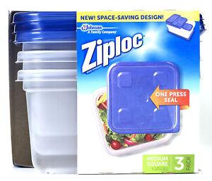 Ziploc 70937 Medium Square Container 3 Count