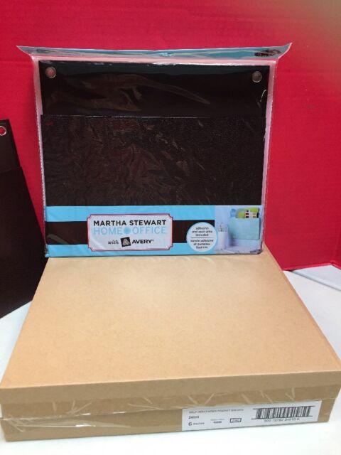 Martha Stewart Home Office Avery Shagreen Pocket 12w X 10 1//4H Brown