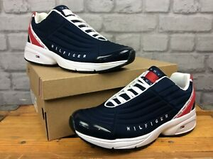 TOMMY-HILFIGER-MENS-UK-8-EU-42-TJ-HERITAGE-NAVY-RED-TRAINERS-RRP-105-EP
