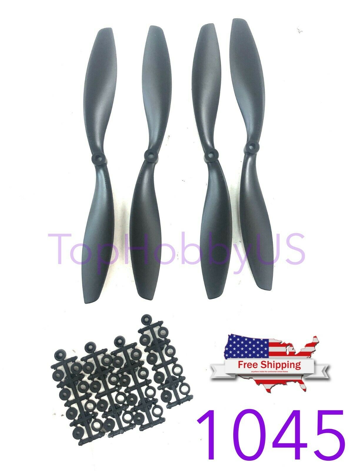 4 Pair 10x4.5 1045 Propeller Prop CW CCW for RC Multi-Copter Quad