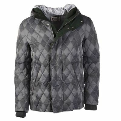 MONCLER Coat Grey Hooded Down Padded Size 4 / 52 / Large RRP £1320 PA 690