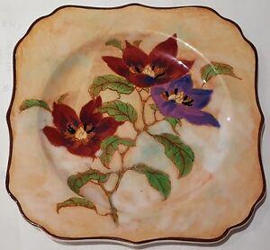 Vintage-Royal-Doulton-England-Pottery-Magnella-Square-Dish-D6298-c1940s