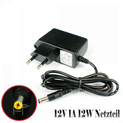 12V 1A 12W AC DC Trafo Netzteil für RGB RGBW LED Strip CCTV Überwachungskamera