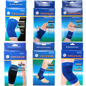 2 Pcs Brace Elastic Muscle Support Compression Sleeve Sport Pain Relief New Blue