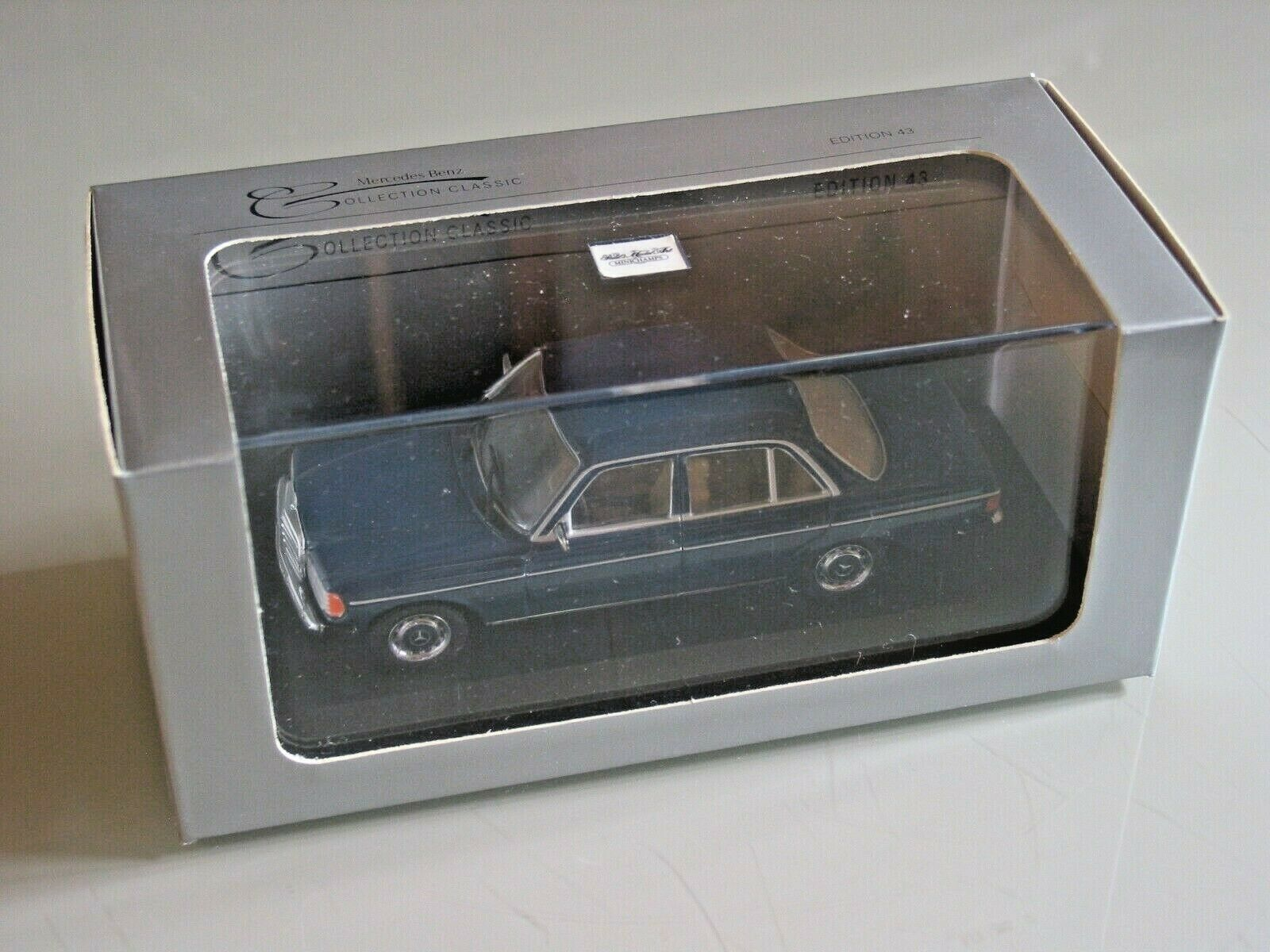 Mercedes W123 SALOON blueE SPECIAL MUSEUM EDITION    1 43 Minichamps