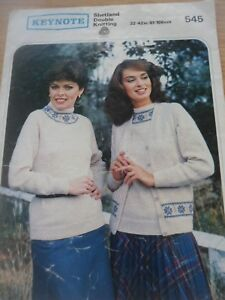 5e45a4dc00c01f Image is loading VINTAGE-1980S-KEYNOTE-DK-KNITTING-PATTERN-LADIES-SWEATER-