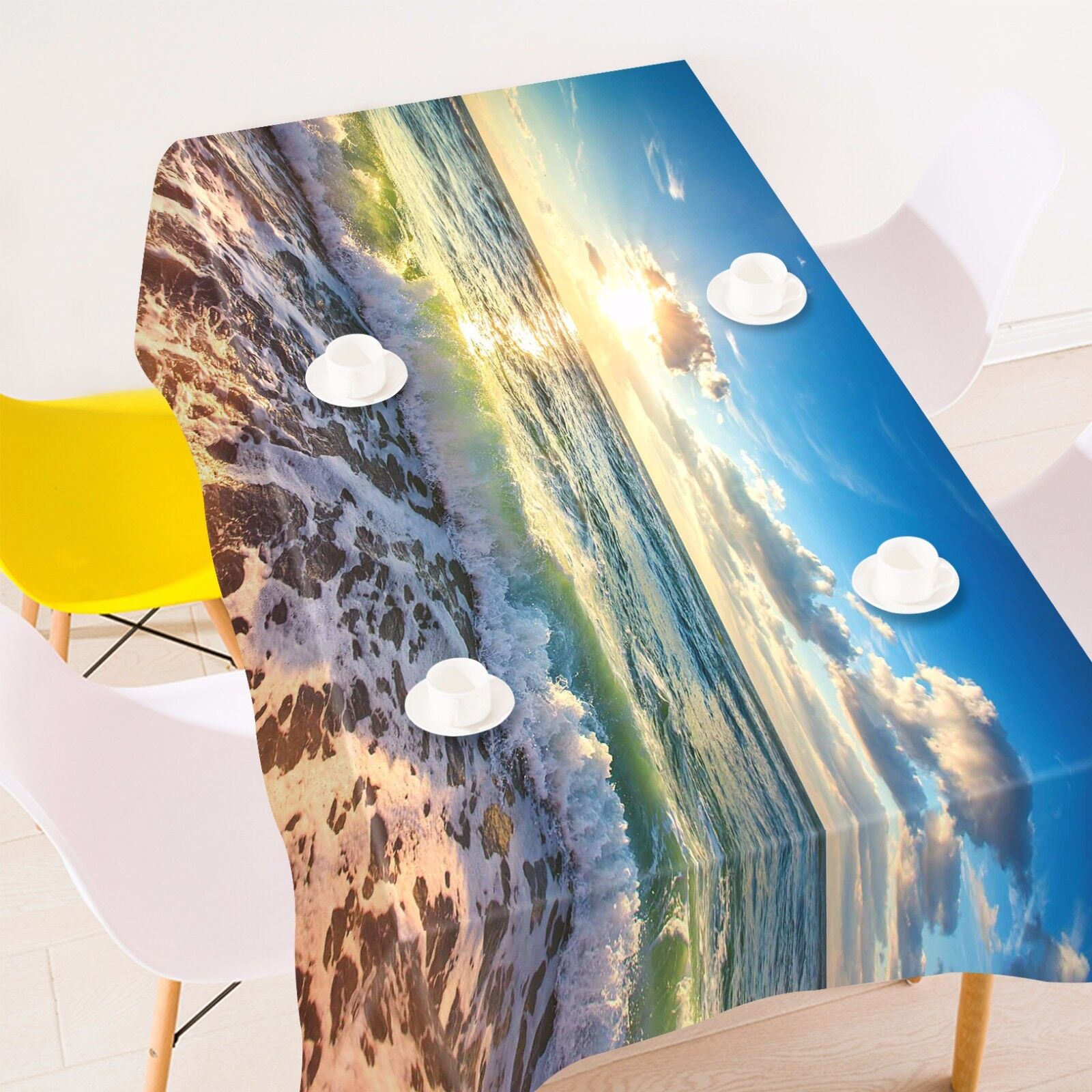 3D Beach 406  Tablecloth Table Cover Cloth Birthday Party Event AJ WALLPAPER AU