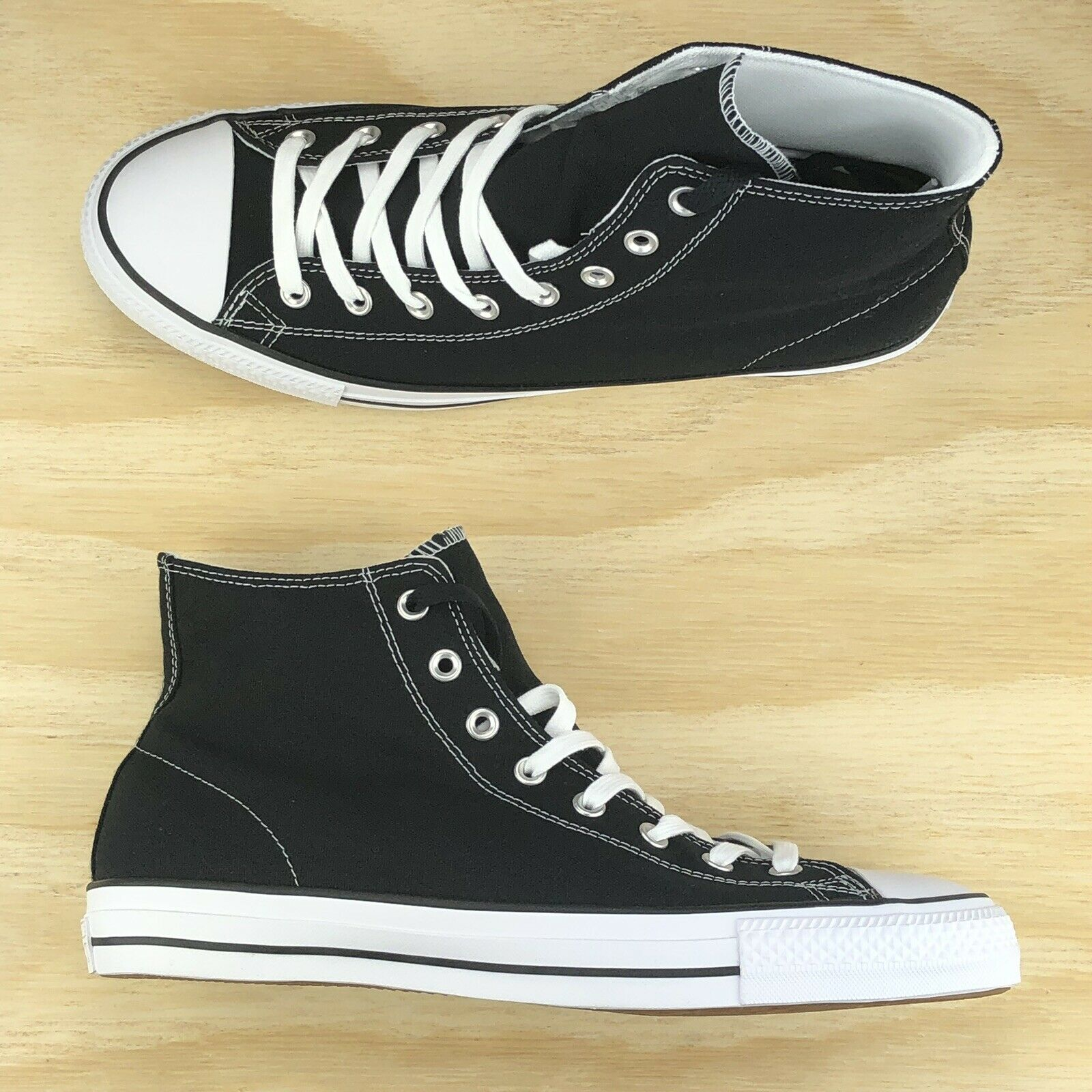 Converse Chuck Taylor All Star Pro Ox Hi Top Black White shoes 155751C Size 10.5