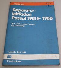 Werkstatthandbuch VW Passat 32B B2 1B3 2B5 Keihin Vergaser Zündanlage 1981-1988