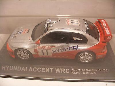 IXO ALTAYA 1//43 HYUNDAI ACCENT WRC F.LOIX S.MEETS RALLYE MONTECARLO 2003