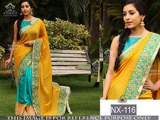 34 Wedding bridal sarees Indian Red bollywood georgette Sari