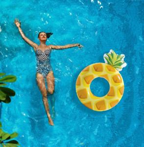 XXL Ananas aufblasbar Wasser Luftmatratze Schwimminsel Schwimmreifen Schwimmring Aufblastiere