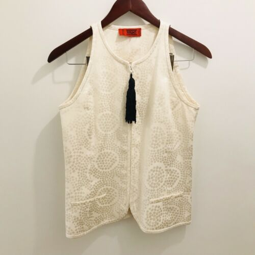 Vintage Valentino Night Label Top 6 Cream Black Do