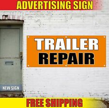 Trailer Repair Banner Advertising Vinyl Sign Flag Service Shop Auto Truck Suv 24