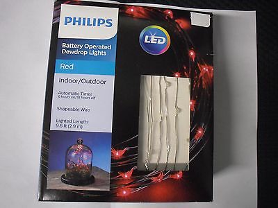 Philips 30ct Led Dewdrop Battery Operated Shapable Lights
