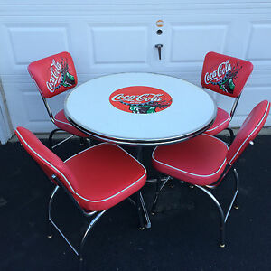 Vintage coca cola table and chairs all luminum products ebay - Coca cola table and chairs set ...