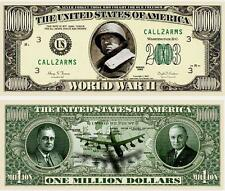 SECONDE GUERRE MONDIALE BILLET MILLION DOLLAR Collection Histoire Armee WWII 2nd